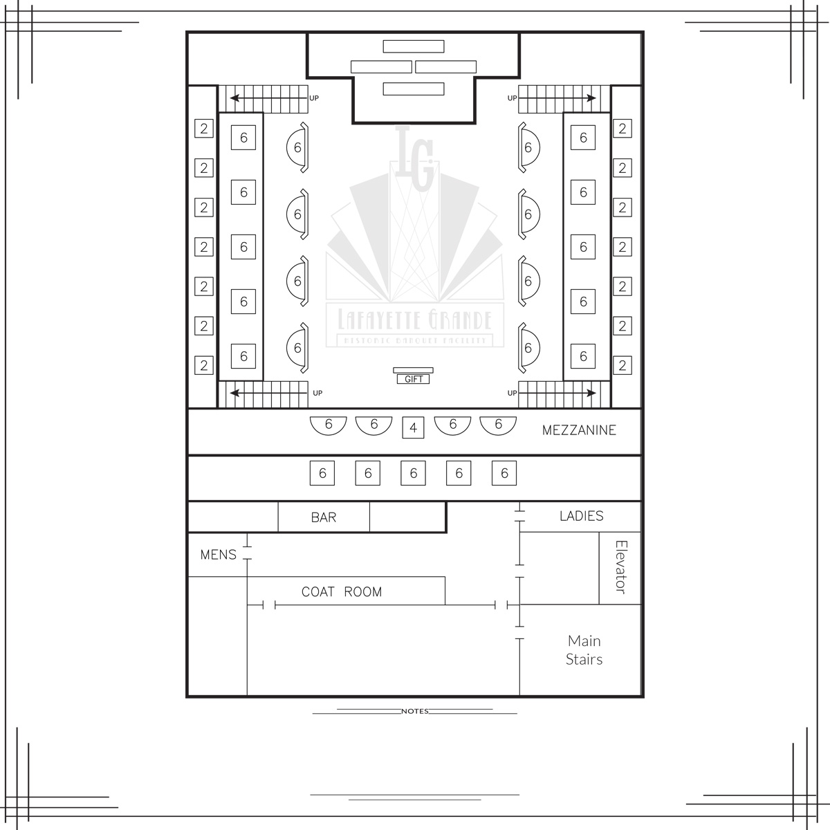 crystal ballroom floorplan