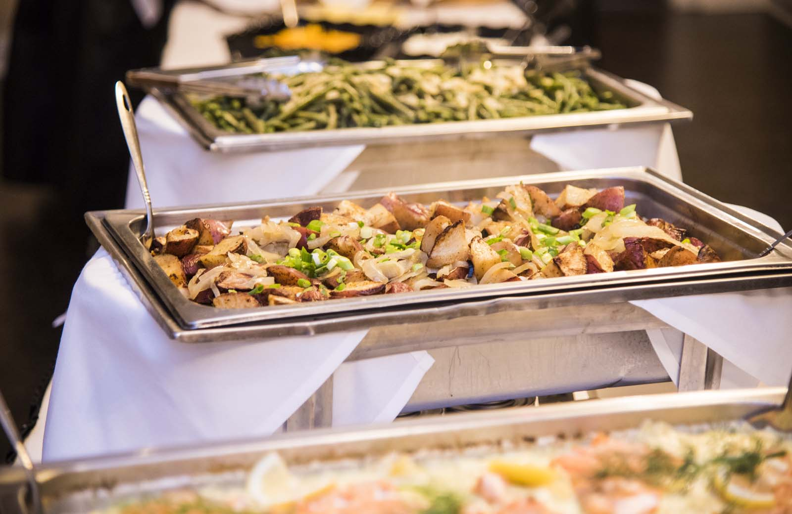 Food is served up on the 4th Floor Crystal Ballroom at the Lafayette Grande. - pictures