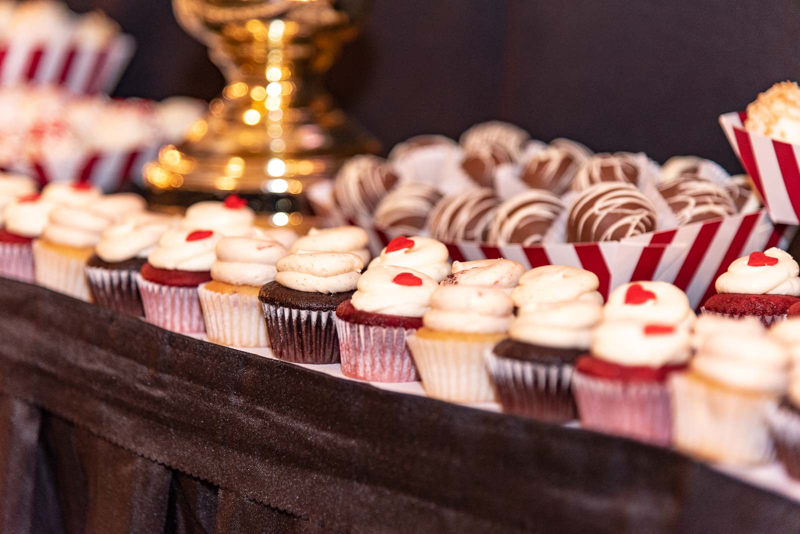 Corporate Party Cupcakes & Cake - Lafayette Grande Banquet Facility
